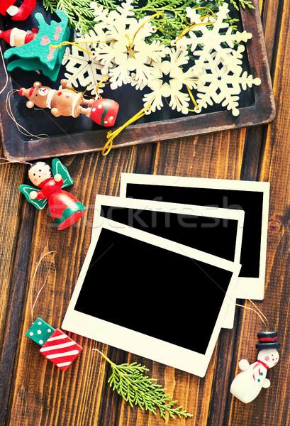 Foto frames vintage ingericht christmas Stockfoto © tycoon