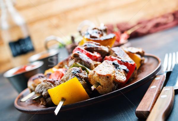 Quibe carne legumes prato fresco molho Foto stock © tycoon