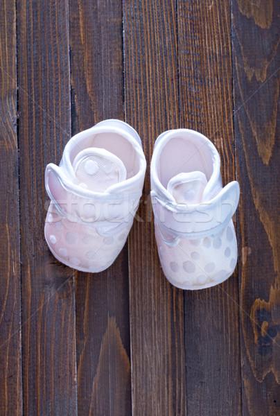 Kicsi babacipők lány baba láb fiú Stock fotó © tycoon