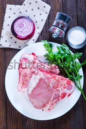 Greggio carne alimentare verde rosso muscolare Foto d'archivio © tycoon