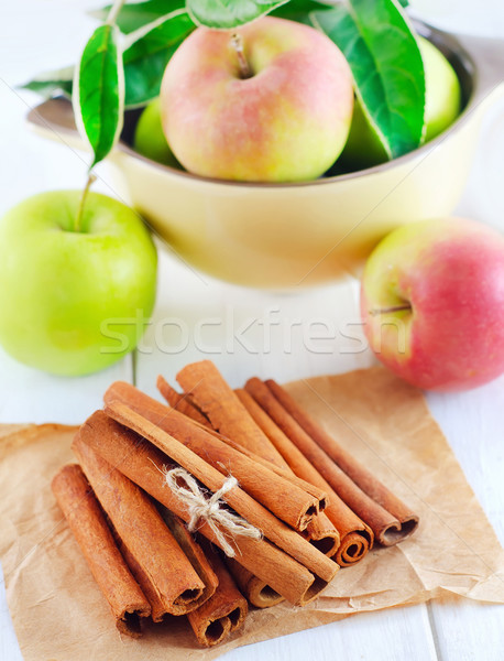 корицей яблоки яблоко фон цвета чистой Сток-фото © tycoon