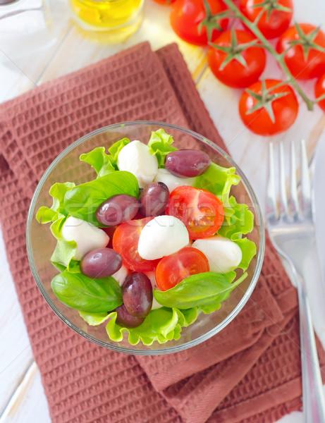 Капрезе лист зеленый обеда красный Салат Сток-фото © tycoon
