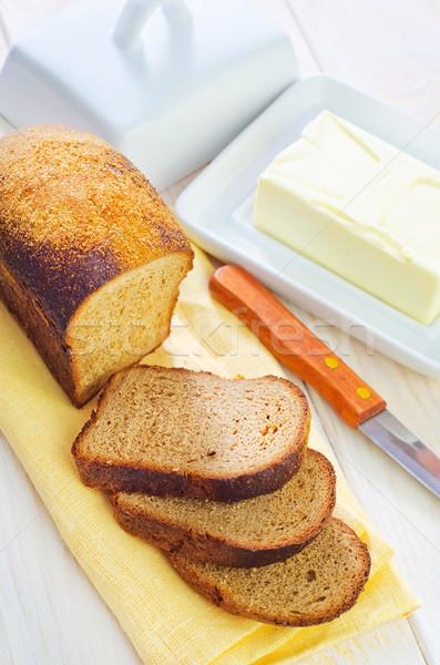Foto stock: Manteiga · pão · compras · verde · queijo · preto