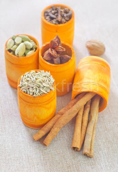 Сток-фото: аромат · Spice · древесины · фоны · травы · семени