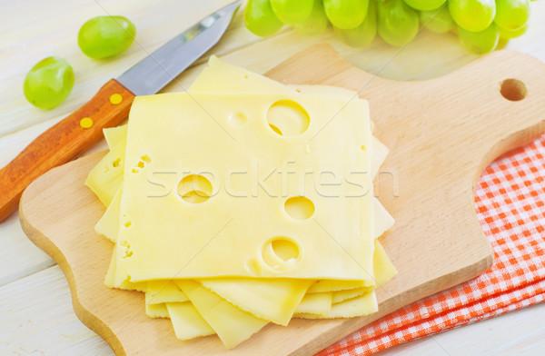 Foto stock: Queijo · madeira · verde · prato · café · da · manhã · cozinhar