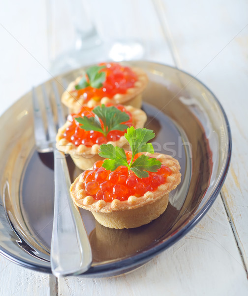 tartalets with caviar Stock photo © tycoon