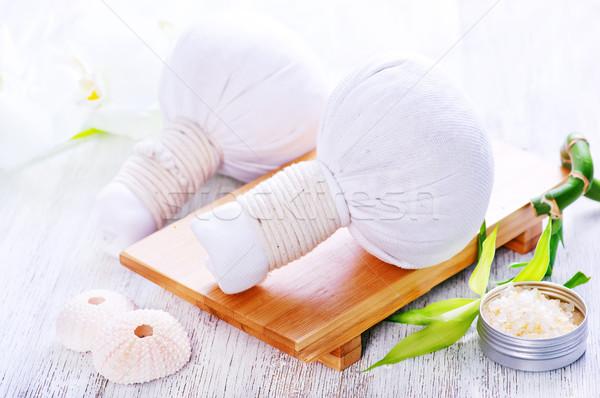 Foto stock: Ingredientes · masaje · blanco · mesa · médicos · cuerpo
