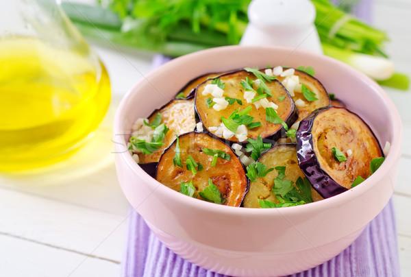 Patlıcan gıda beyaz pişirmek yemek Stok fotoğraf © tycoon