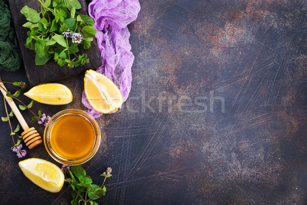 honey with lemon Stock photo © tycoon