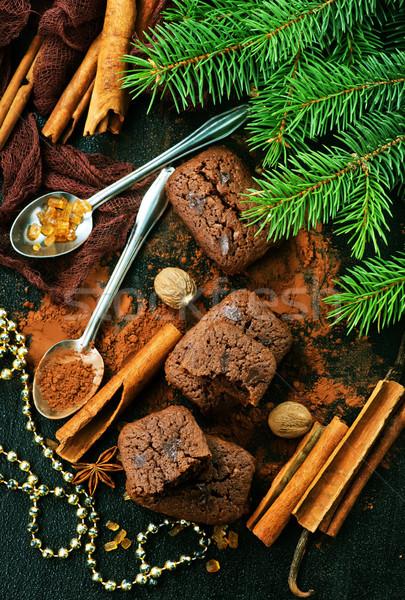 Cake Spice christmas achtergrond koken Stockfoto © tycoon