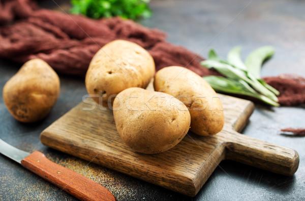 De pomme de terre bord table boîte agriculture légumes Photo stock © tycoon