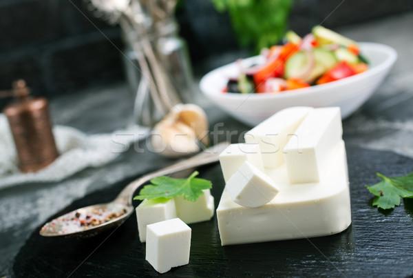 Griego ensalada blanco tazón hortalizas feta Foto stock © tycoon