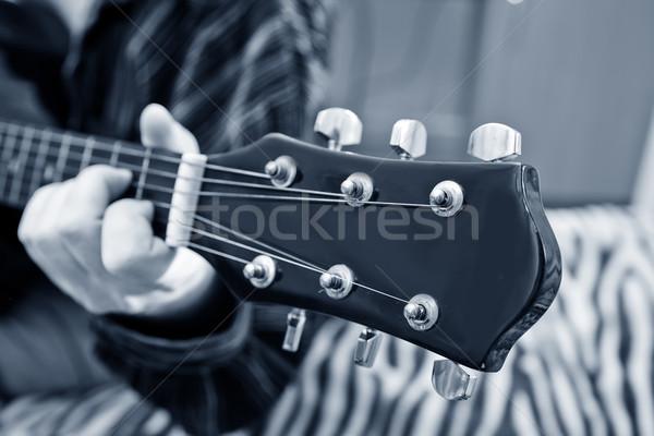 Drewna taniec rock czarny jazz zespołu Zdjęcia stock © tycoon