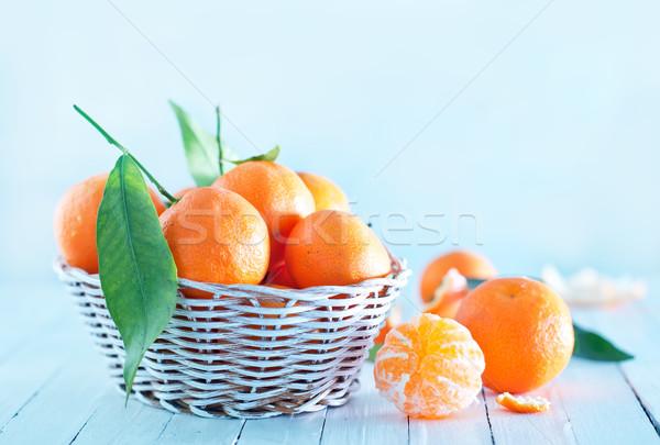 新鮮な バスケット 表 健康 背景 オレンジ ストックフォト © tycoon