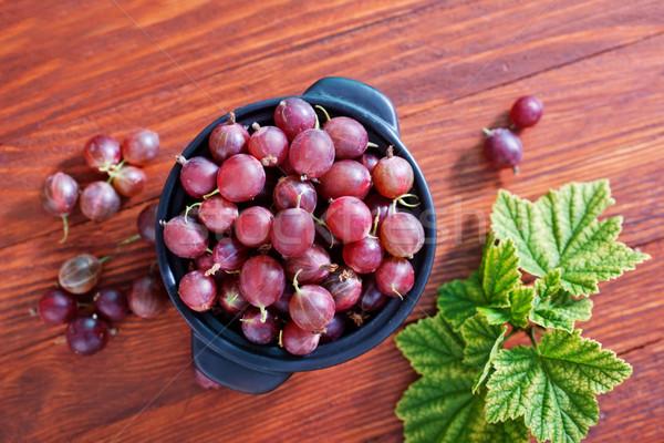 Frischen Beeren Gesundheit grünen Gruppe Blätter Stock foto © tycoon