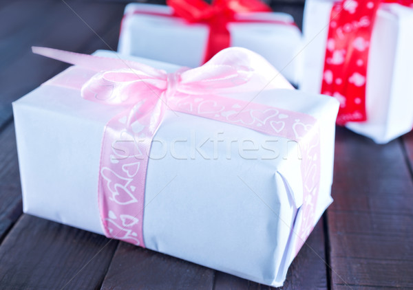 boxes for present Stock photo © tycoon