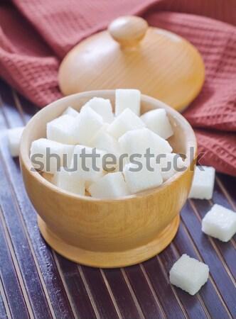 砂糖 光 色 白 キューブ 結晶 ストックフォト © tycoon