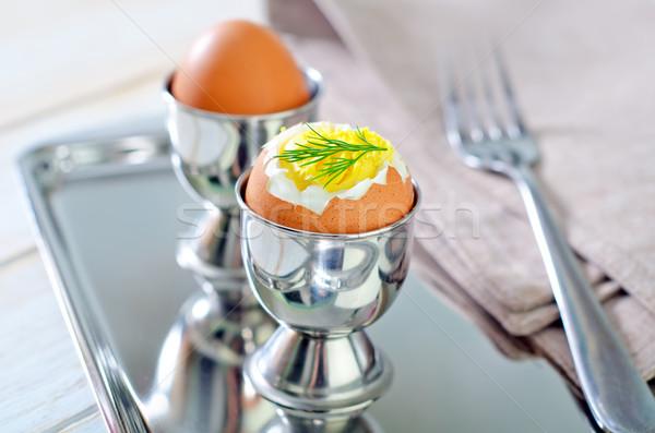 卵 朝食 カップ シェル 料理 ストックフォト © tycoon