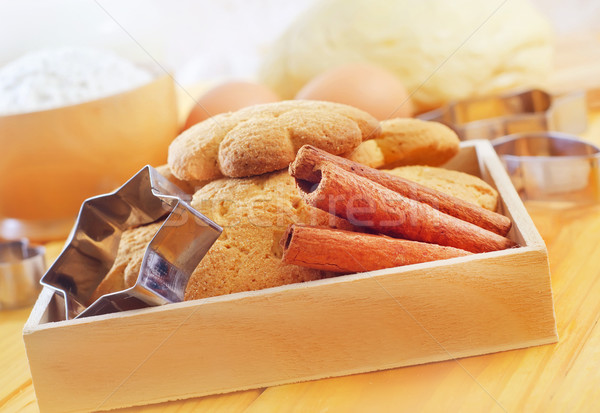 Stock photo: Fresh sweet cookies with cinnamon