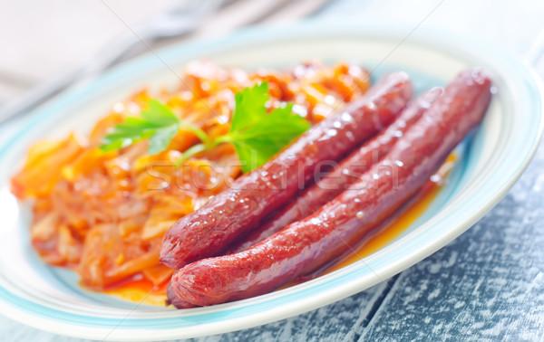 жареный капуста продовольствие обеда обед Сток-фото © tycoon