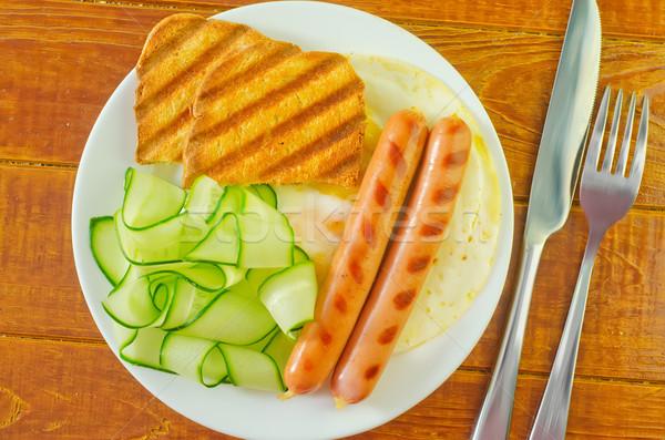 ストックフォト: 朝食 · 犬 · 火災 · 卵 · ディナー · 脂肪