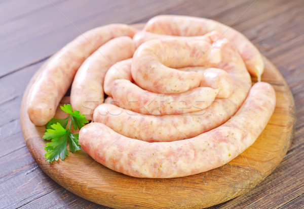 raw sausages Stock photo © tycoon
