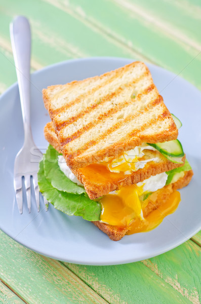 egg with bread Stock photo © tycoon