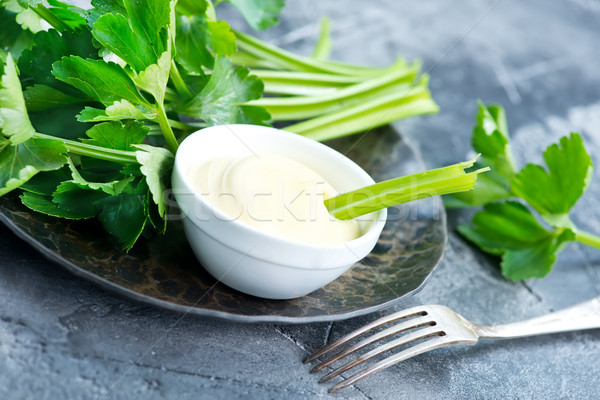celery with sauce Stock photo © tycoon