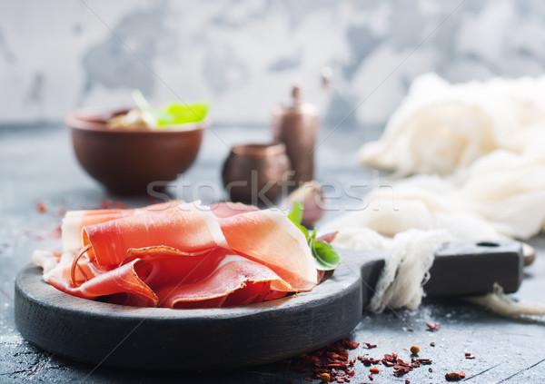 smoked parma ham Stock photo © tycoon