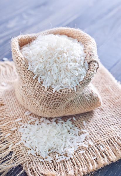 Ruw rijst achtergrond restaurant tabel diner Stockfoto © tycoon