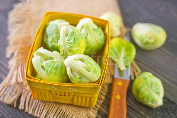 食品 自然 表 頭 サラダ 食べる ストックフォト © tycoon