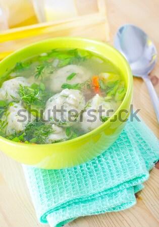 Lahana mutfak yeşil mavi et Stok fotoğraf © tycoon