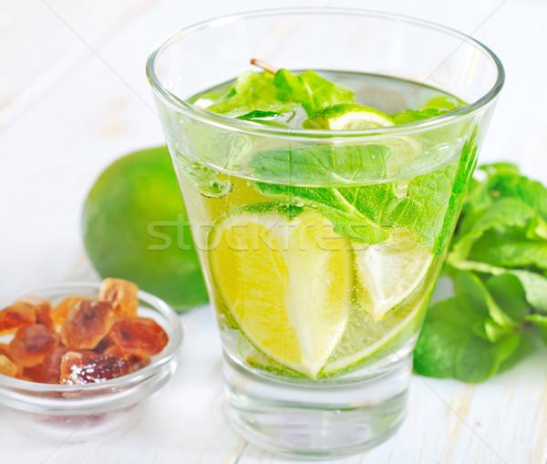 Foto stock: Mojito · festa · fruto · tabela · bar · coquetel