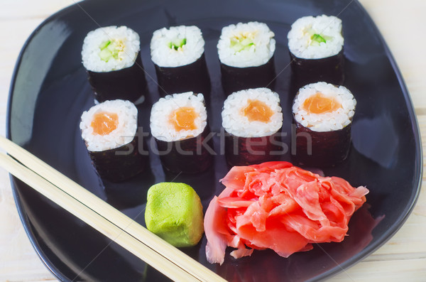 Sushi pesce cena bianco japanese pepe Foto d'archivio © tycoon