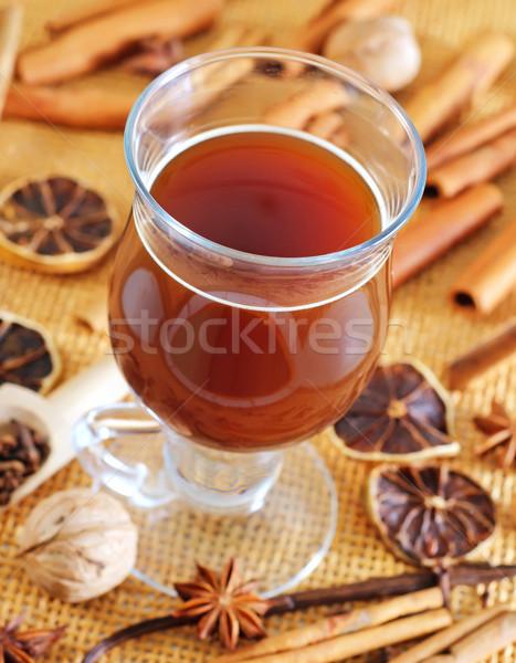 Stok fotoğraf: Lezzet · baharatlar · kahve · ev · arka · plan · yaprakları