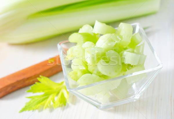 Céleri nature santé couleur usine blanche Photo stock © tycoon