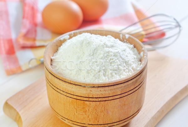 мучной древесины яйцо кухне таблице пшеницы Сток-фото © tycoon