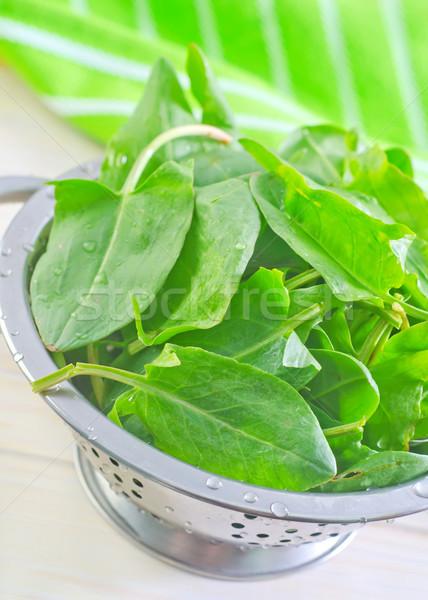 Saúde fundo laranja branco refeição tempero Foto stock © tycoon