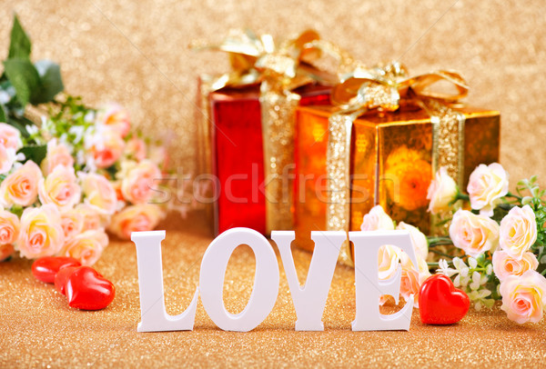 шкатулке письма любви свадьба счастливым Сток-фото © tycoon