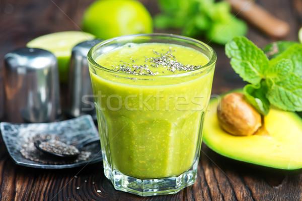 Fresche avocado vetro tavola sfondo Foto d'archivio © tycoon