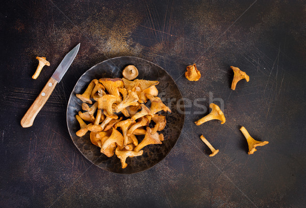 Photo stock: Brut · champignons · fraîches · champignons · groupe · automne