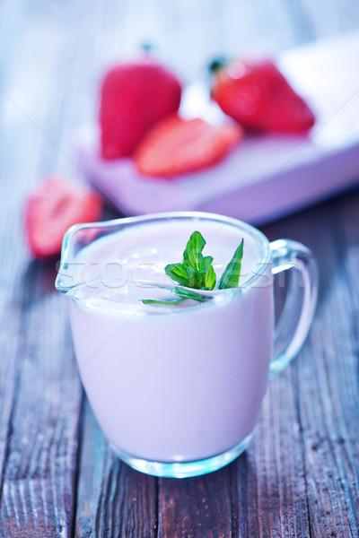 strawberry yogurt Stock photo © tycoon