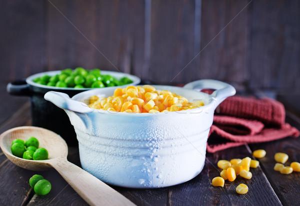 corn and peas Stock photo © tycoon