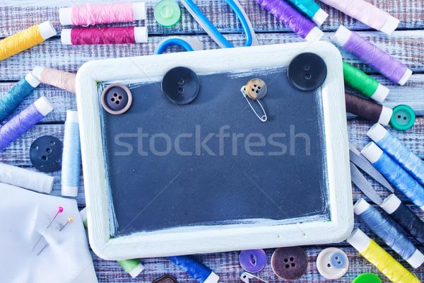 Coser herramientas textura tejido negro vintage Foto stock © tycoon