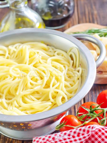 Spaghetti rosso pasta grano foto cottura Foto d'archivio © tycoon