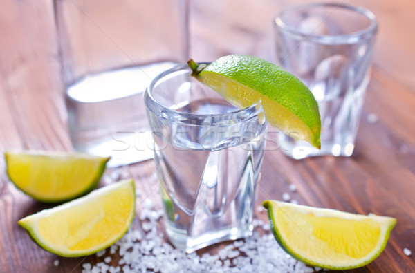 Tequila aloe étel buli fa üveg Stock fotó © tycoon