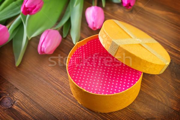 Cuadro presente flor primavera amor naturaleza Foto stock © tycoon