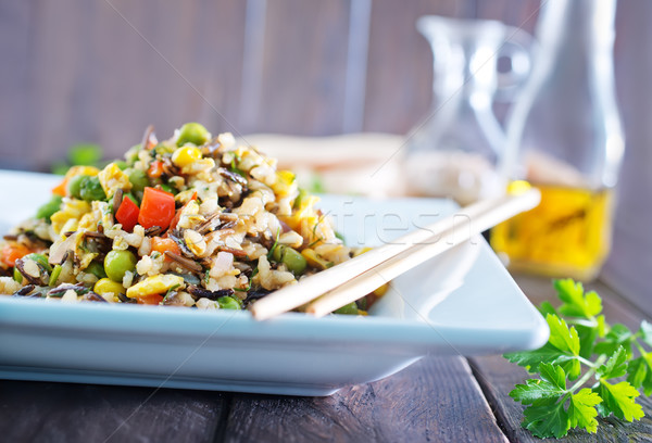 fried rice with vegetables Stock photo © tycoon