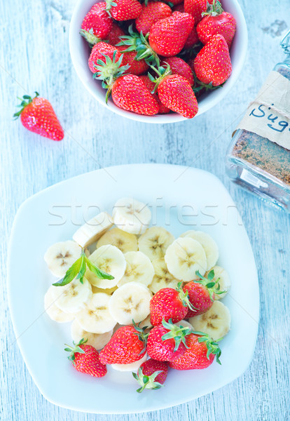strawberry with banana Stock photo © tycoon