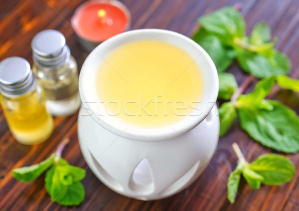 Сток-фото: аромат · нефть · медицинской · фон · пространстве · зеленый